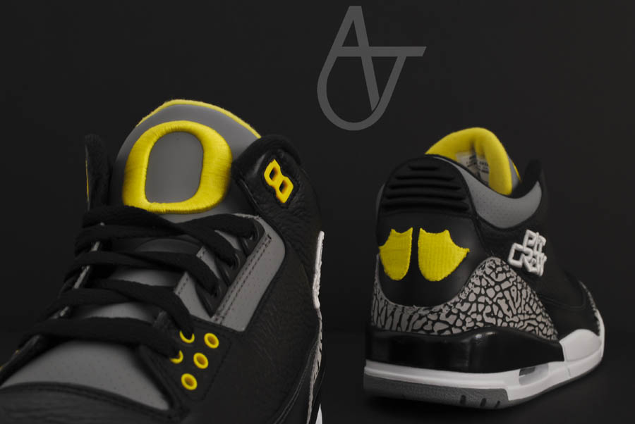 Air Jordan Retro 3 - Oregon Ducks Pit Crew Away (8)