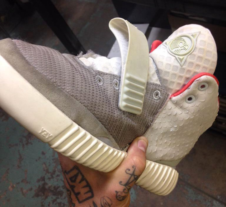 Nike Air Yeezy 2 with adidas Yeezy Boost Sole (1)