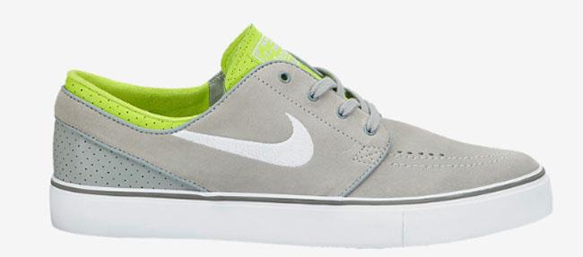separation shoes 83588 be5b6 Nike Skateboarding Zoom Stefan Janoski Base Grey   White   Venom Green