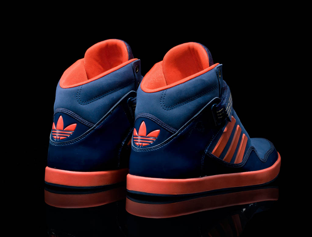 Adidas Shoes High Top Blue And Red