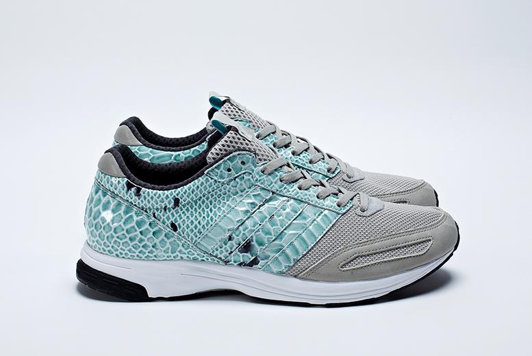 online store e0dfe 90b38 adidas consortium adizero adios blue snakeskin