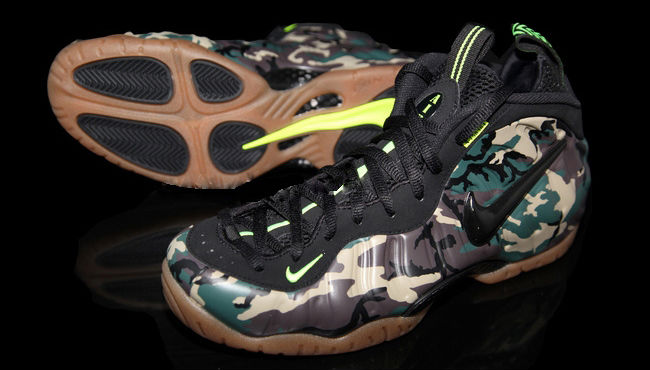 Nike Air Foamposite Pro Army Camo 587547-300 Release Date (2)