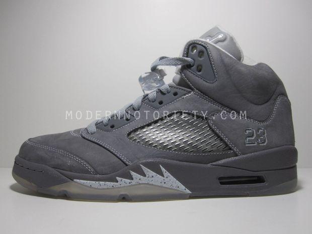 outlet store 551f1 98dd0 Air Jordan Retro 5 Light Graphite White Wolf Grey 136027-005
