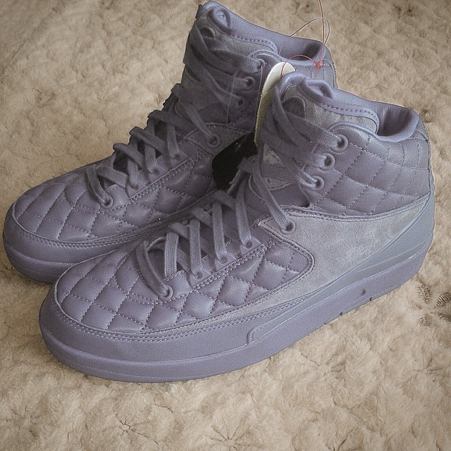 The Quilted Air Jordan 2 in Cool Grey  b21d7475ce