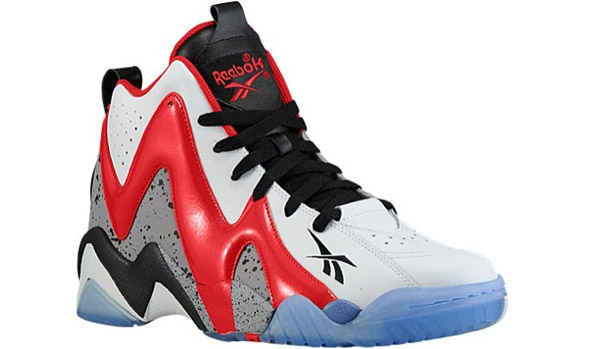 Reebok Kamikaze II Mid White/Excellent Red-Black-Ice