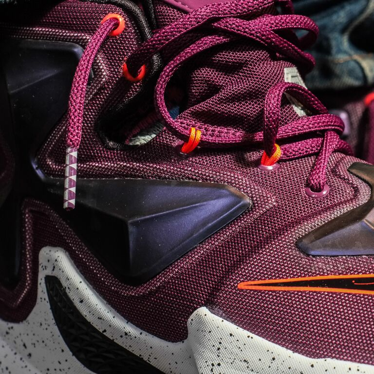 Nike LeBron 13 Berry On-Foot 807219-500 (3)