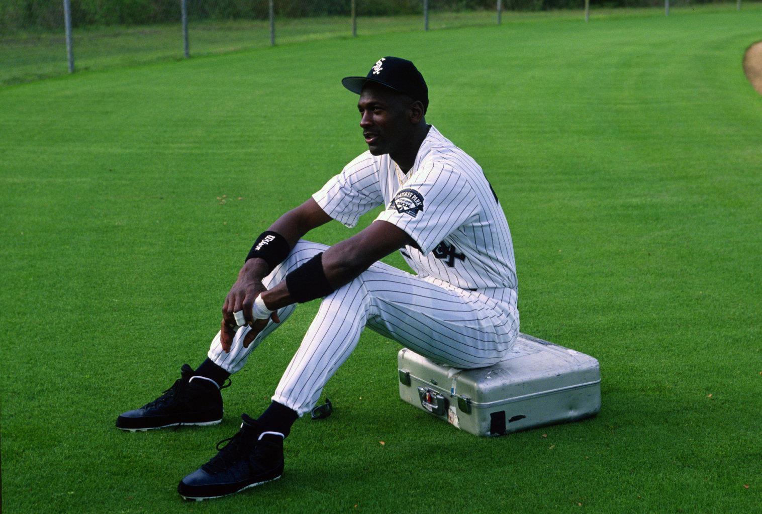 3b24a63019b1 Flashback    Michael Jordan in the Air Jordan IX PE Baseball Cleat ...