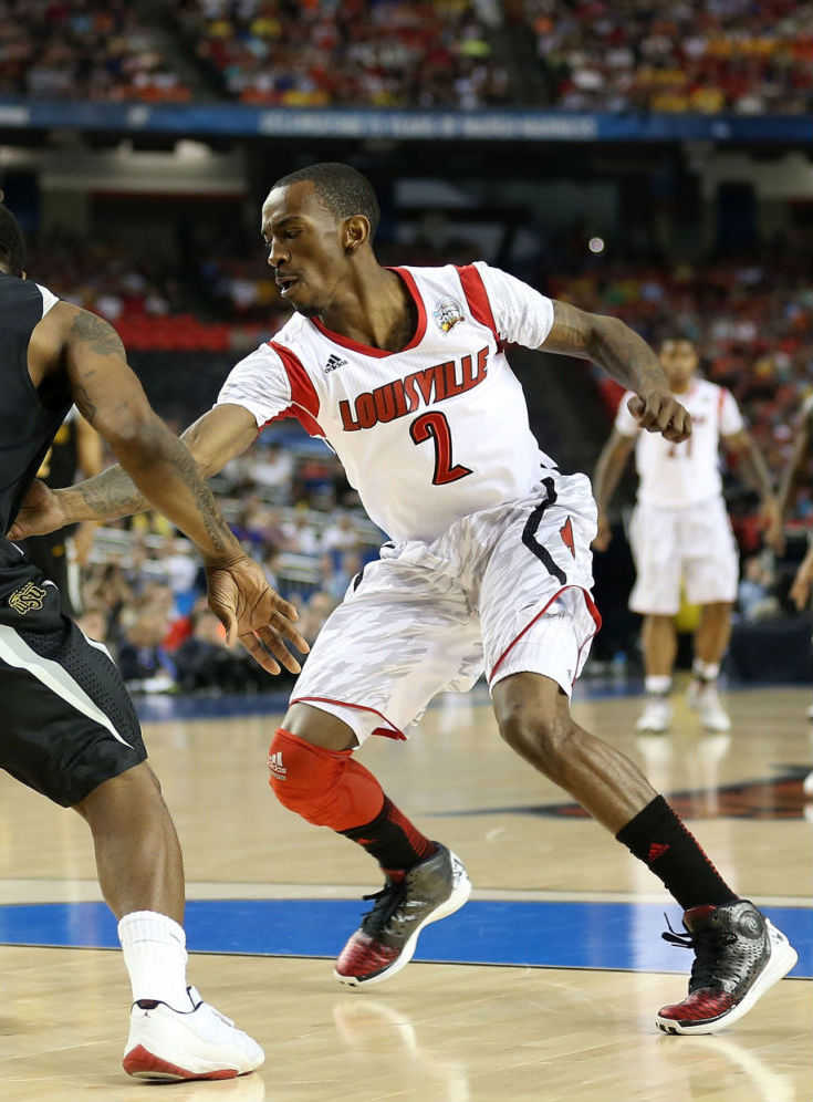 Russ Smith wearing adidas Rose 3.5 Away