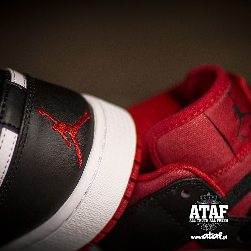 0828ba816fb1e Air Jordan I 1 Mid Black Gym Red 554724-020 (2)