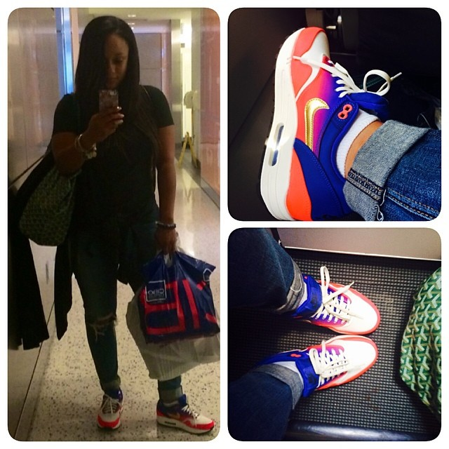Tahiry wearing Nike Air Max 1 Mercurial
