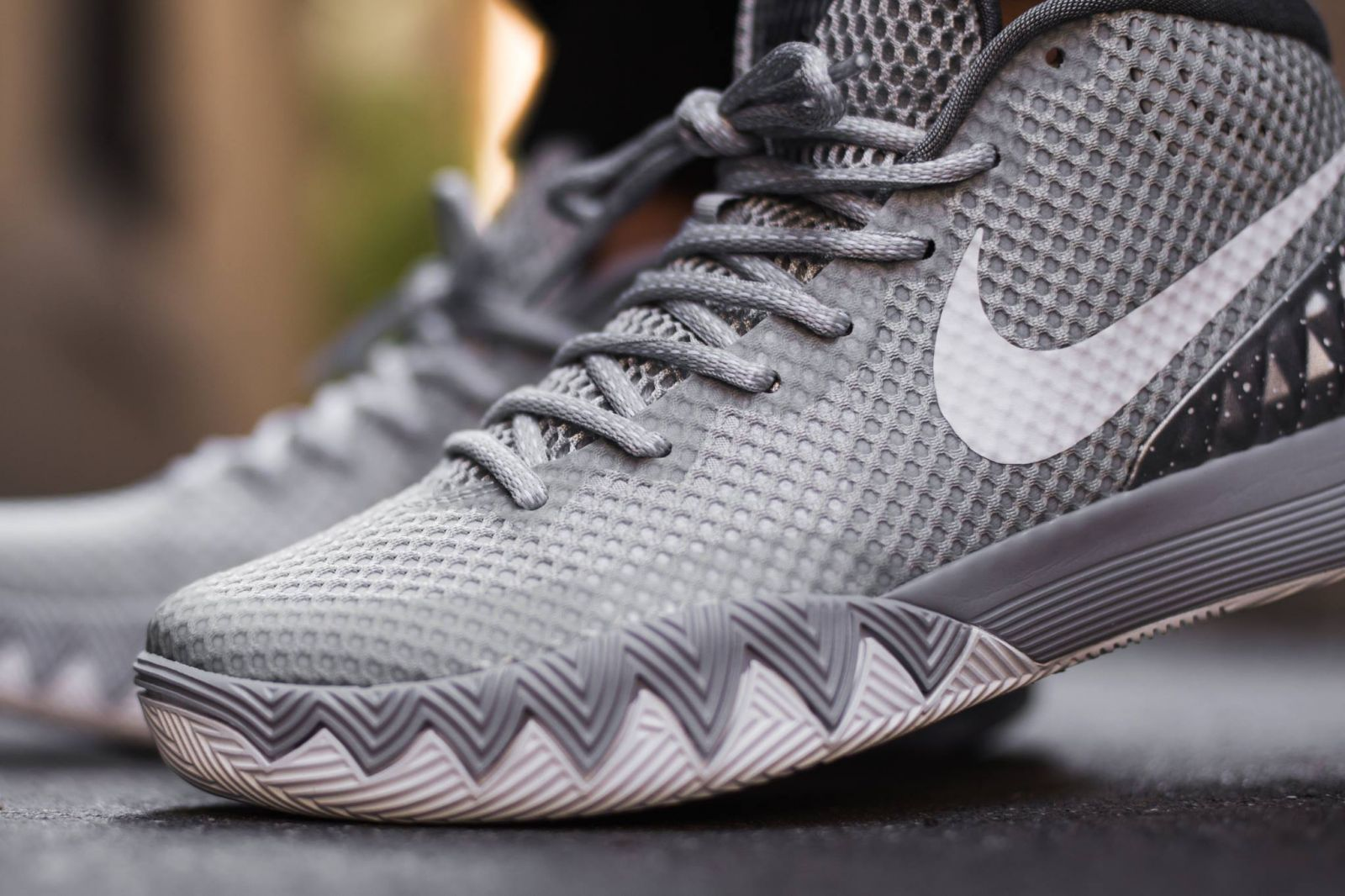 more photos 02322 6001b See How the  Wolf Grey  Nike Kyrie 1 Looks On-Feet