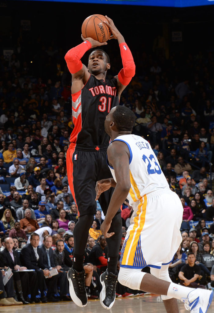 new products 0ddca 0cf9d Terrence Ross wearing Air Jordan XII 12 Playoff (1)
