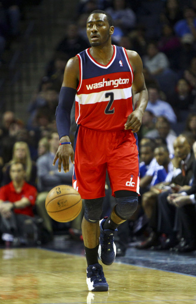 John Wall wearing adidas Top Ten 2000
