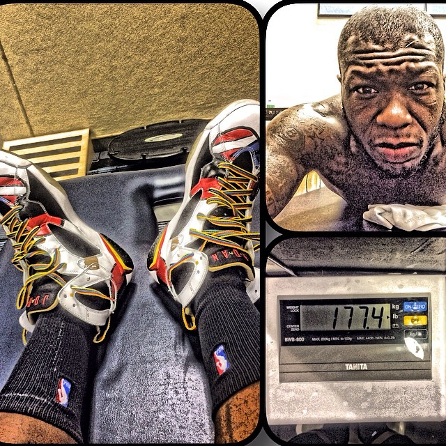 Nate Robinson wearing Air Jordan 7 Miro