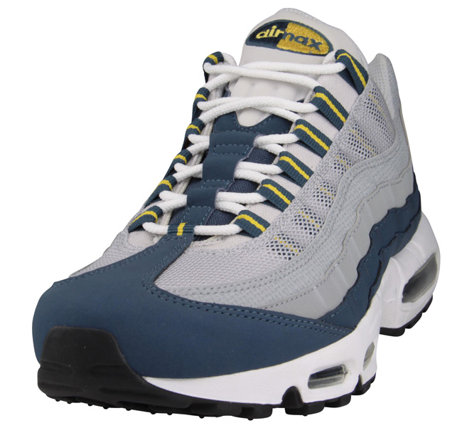 new style 3881e ec727 blue and yellow air max 95