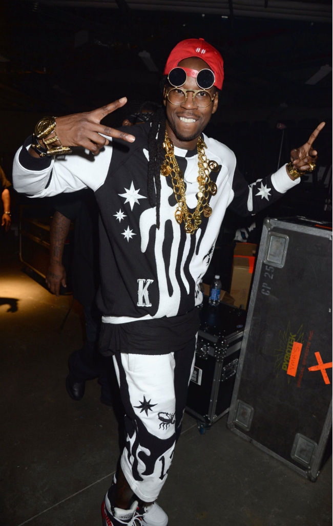 2 Chainz wearing Ewing Focus