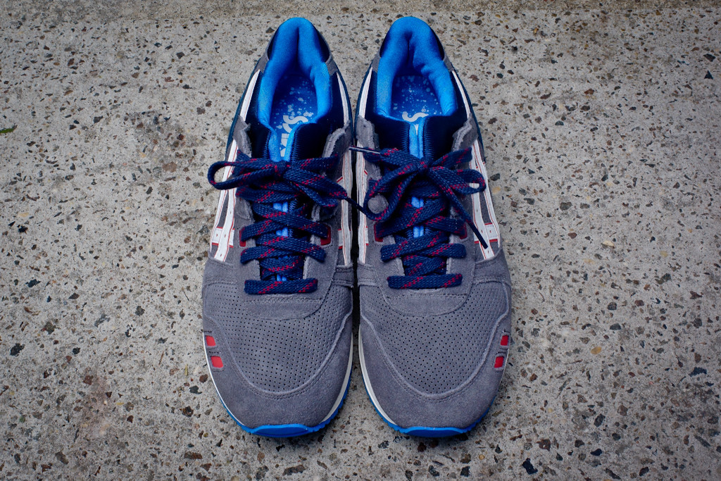 asics gel lyte grey navy