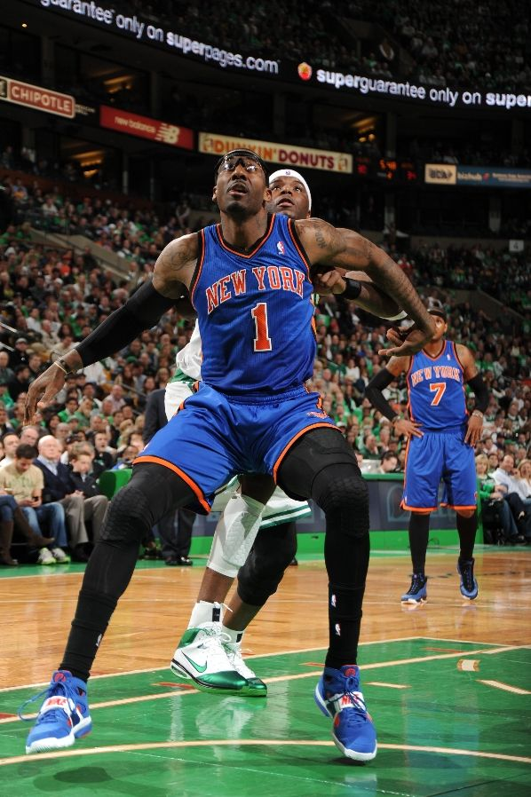 Amar'e Stoudemire wearing the Nike Zoom Huarache Trainer