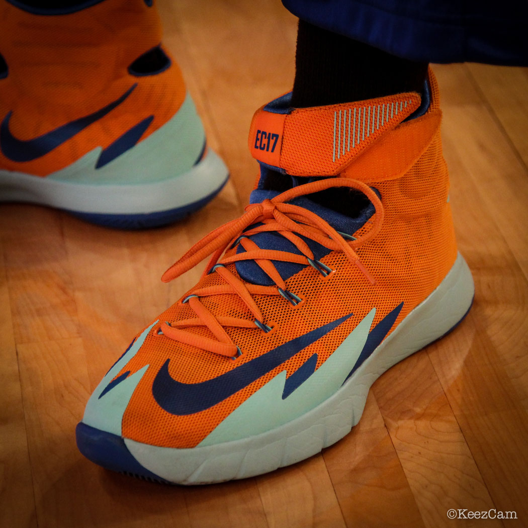 Essence Carson wearing Nike Zoom HyperRev New York Liberty PE