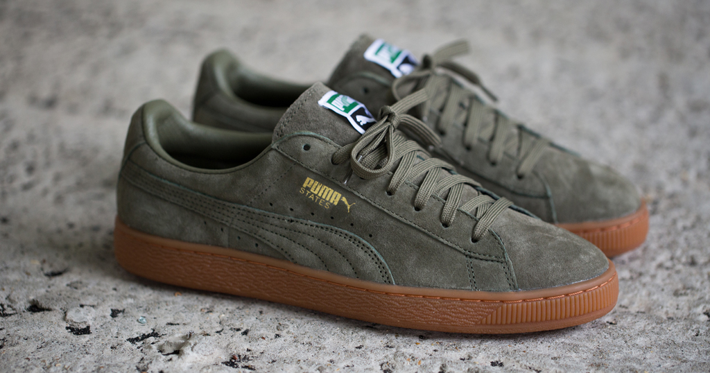 Puma Suede Black Grey Gum Sole
