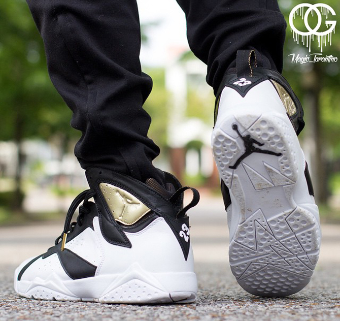 afbe1f6da76811 ... get see the champagne and cigar jordan 7s on feet sole collector e901b  376cc ...