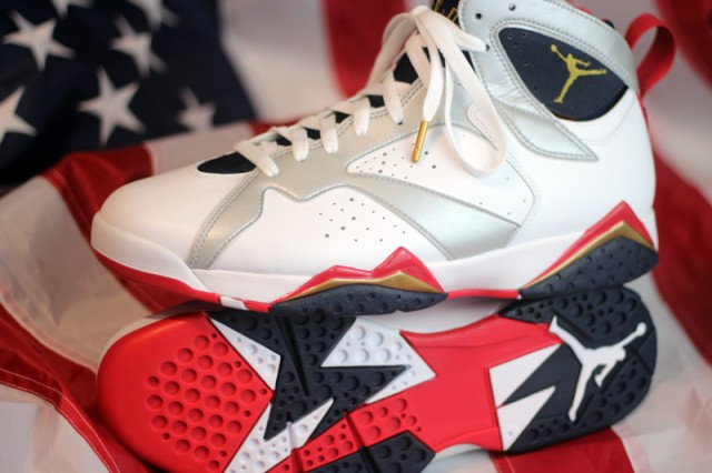 aca47dea3e0ffc Air Jordan 7 Retro - Olympic - Detailed Look