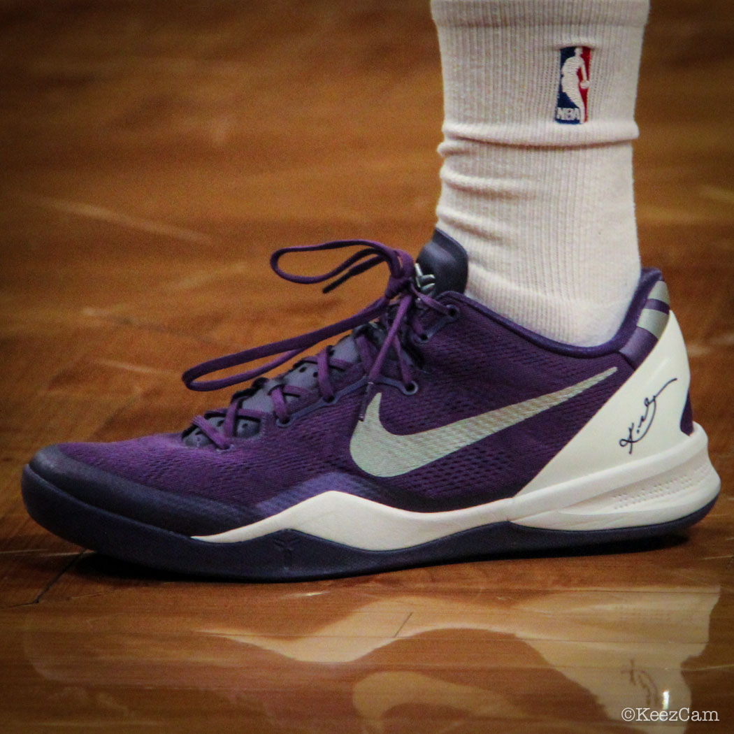 Ray McCallum wearing Nike Kobe 8 System (1)