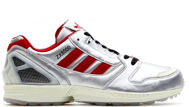 adidas ZX 8000 Metallic Silver/University Red-Black