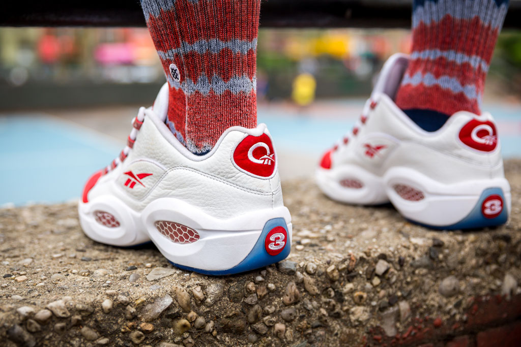 Reebok Question Low White/Red (8)