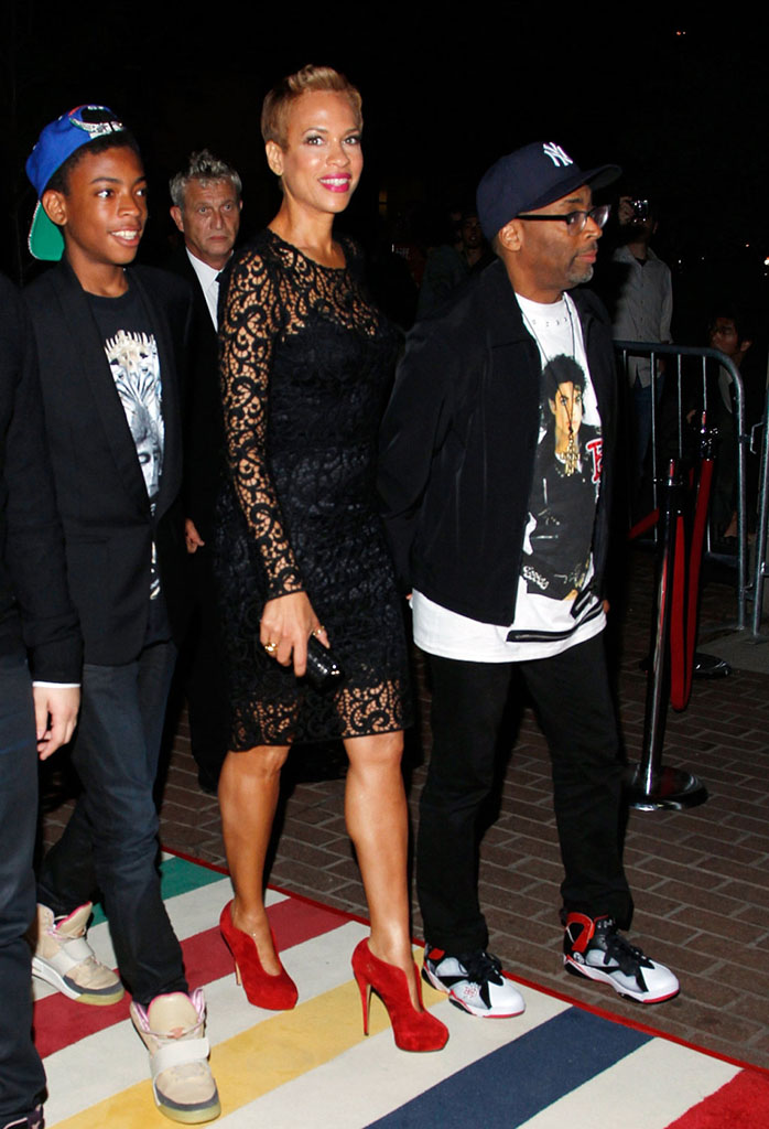Spike Lee wearing Air Jordan VII 7 Bad 25 by Van Monroe (1)