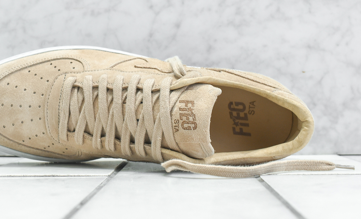 61a5298bd448 Ronnie Fieg Kith Bathing Ape Tan Suede Top