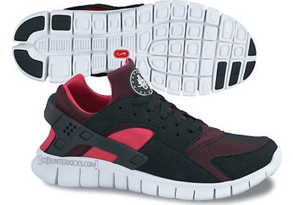 Nike Huarache Red And Black