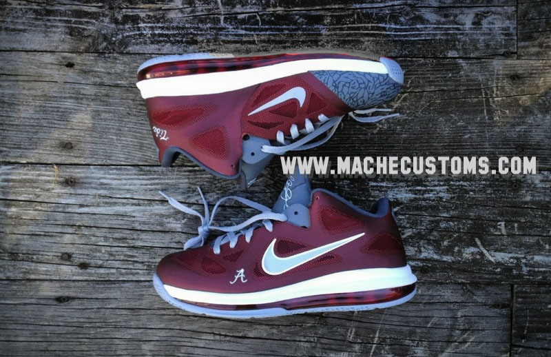 4850298881cf Nike LeBron 9 Low Roll Tide by Mache Custom Kicks (1)