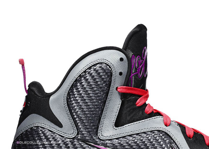 finest selection 52095 04189 Nike LeBron 9 Miami Nights Cool Grey Vivid Grey Black Cherry 469764-002 C
