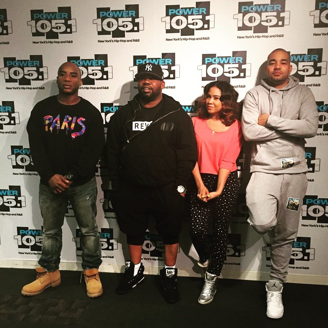 6a4065d3dc1e99 Raekwon wearing the Black White Ewing 33 Hi  DJ Envy wearing the  White