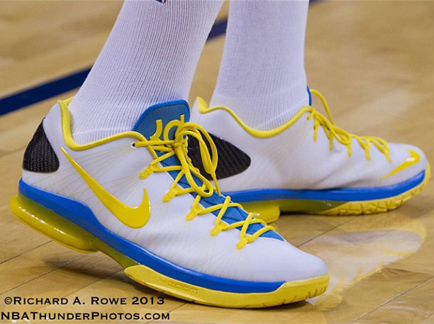 Nike KD V Elite White Blue Yellow (1)