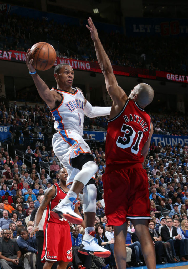 Russell Westbrook wearing Air Jordan XX8 OKC PE (3)