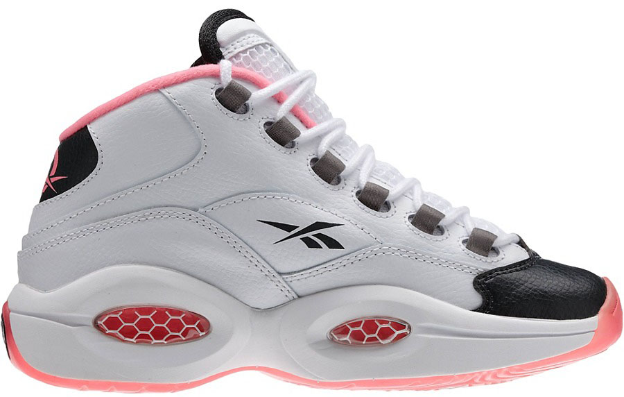 Reebok Question GS White/Black-Pink