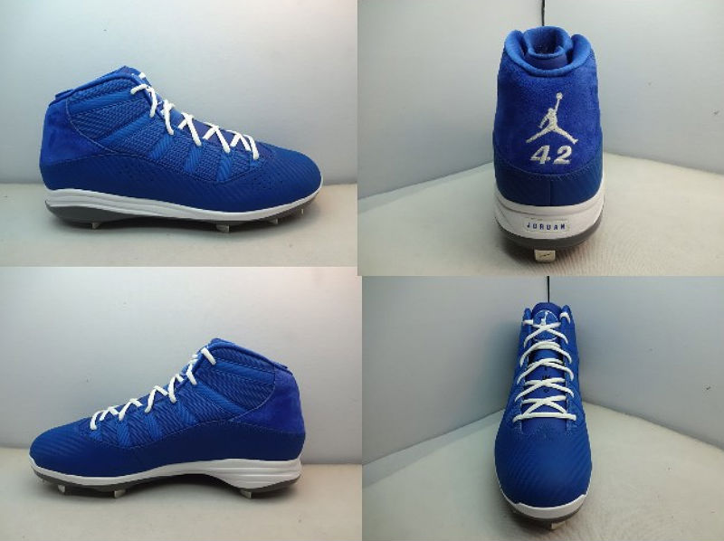 Jordan 6 Rings Jackie Robinson Day PE Cleats (1)