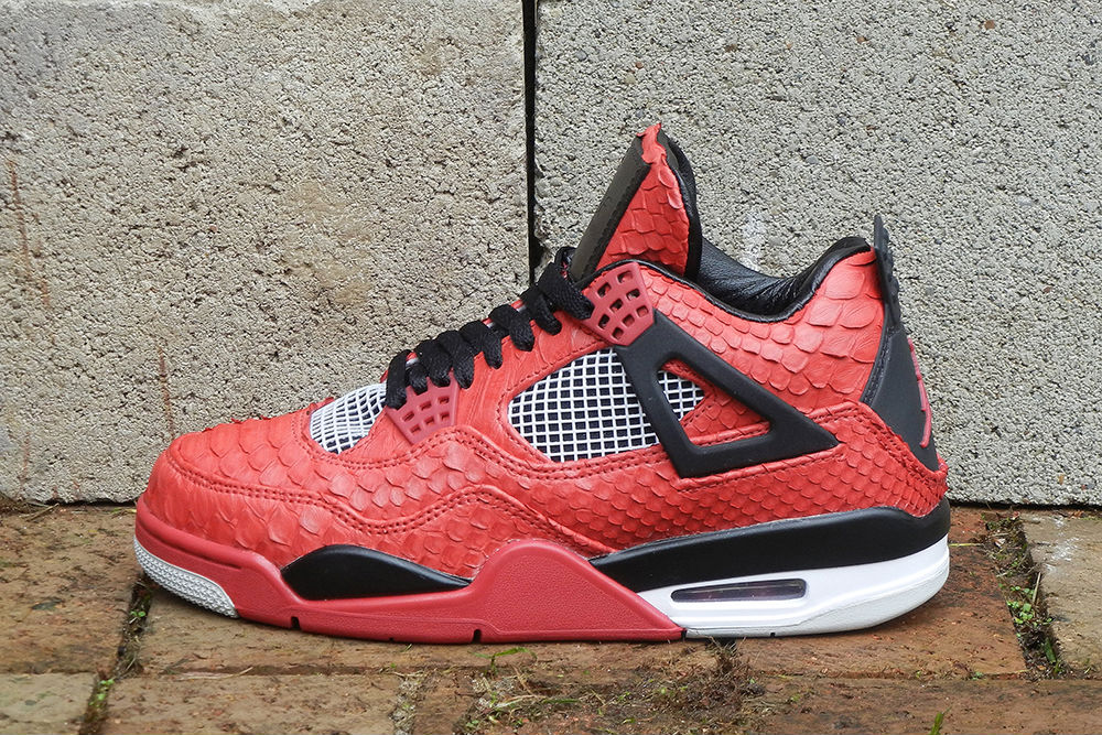 "Air Jordan IV 4 Retro ""Red Python"" by JBF Customs (1)"