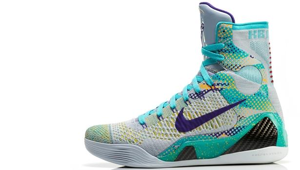 Nike Kobe 9 Elite Wolf Grey/Sport Turquoise-Court Purple