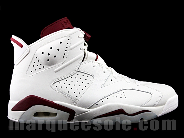 Nike Air Jordan 6 White Maroon
