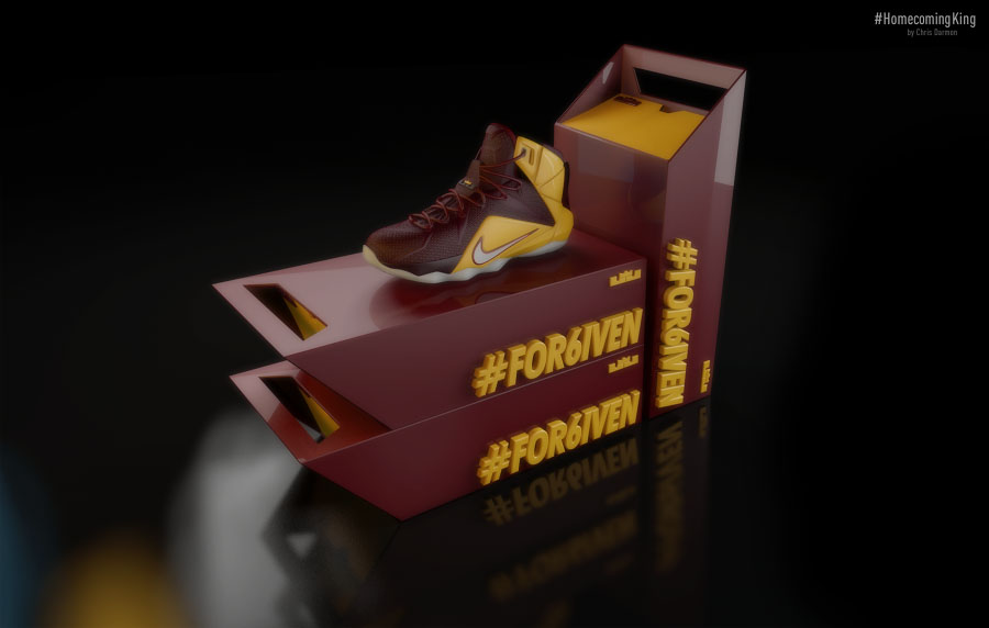 Nike LeBron 12 'Homecoming King' Concept by Chris Darmon (1)