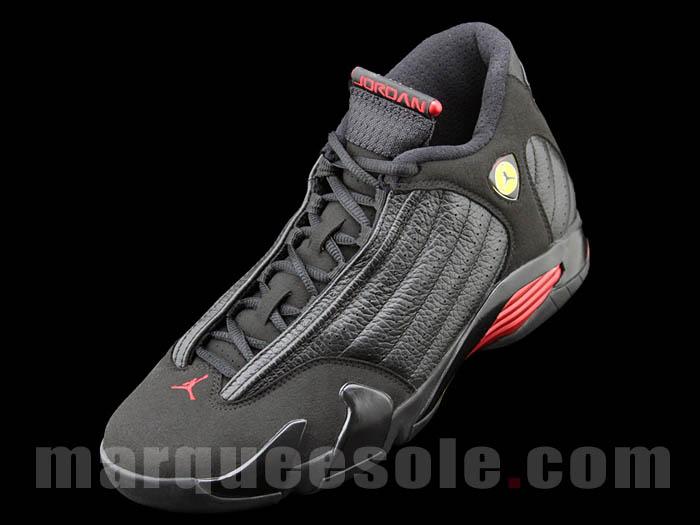 Nike Air Jordan Retro 14 Last Shot Black Red Basketball Shoes 311832 010