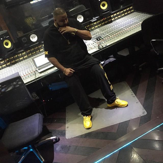 4578598ba62e DJ Khaled wearing Nike LeBron X 10 Must Be the Honey