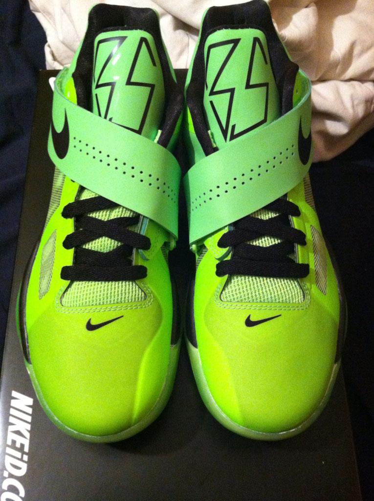 ec4e611cb77 Nike Zoom KD IV iD Electric Green Black by Jmoore93