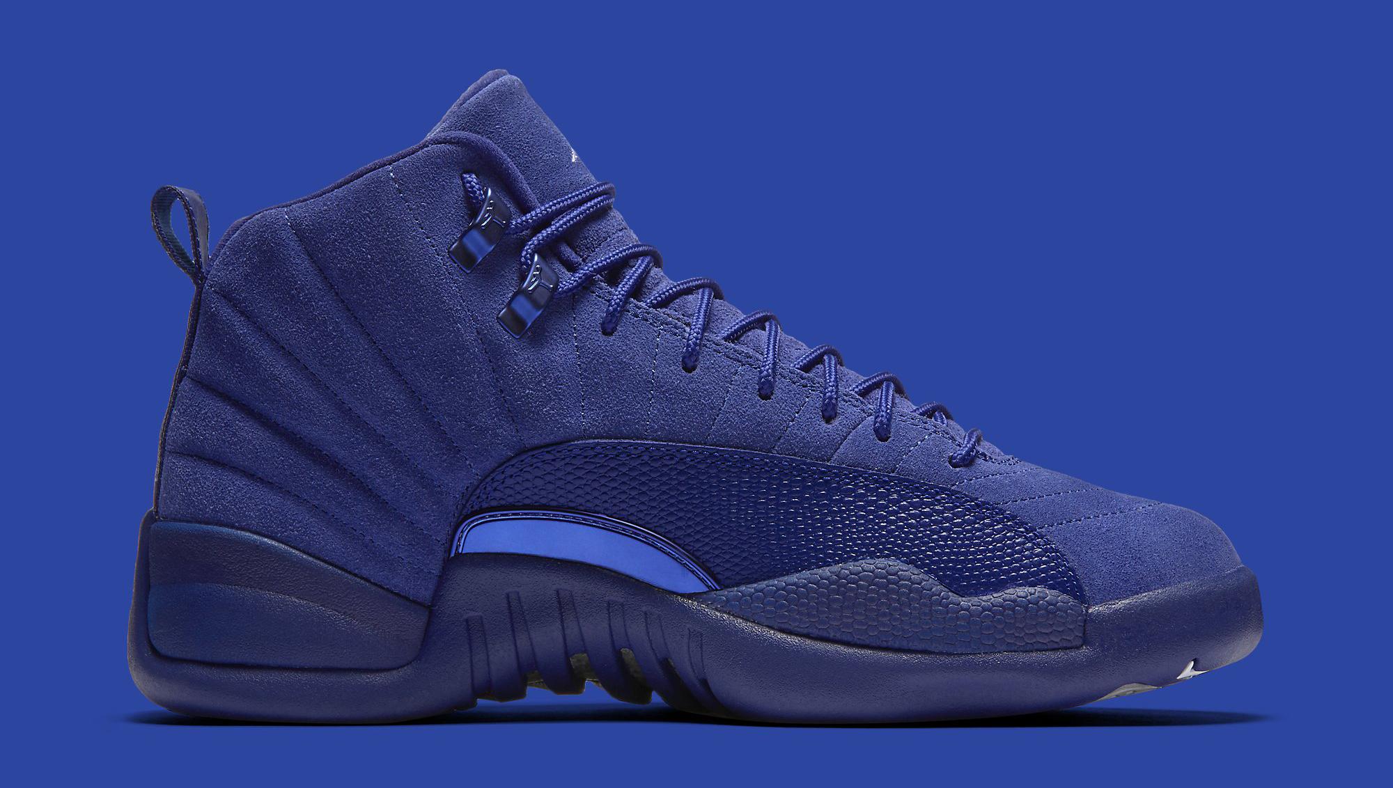 Blue Jordan 12 Medial