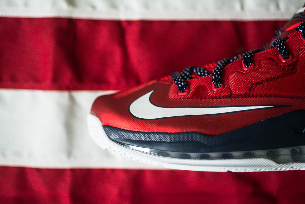 Nike Air Max LeBron 11 Low Independence Day Toe