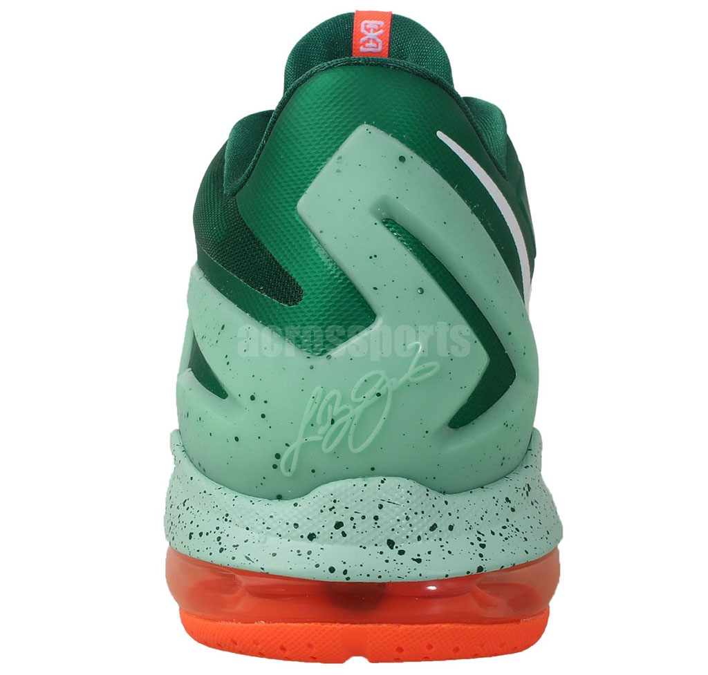 d6b4da6c3500 Nike LeBron XI 11 Low Biscayne Mystic Green 642849-313 (4)