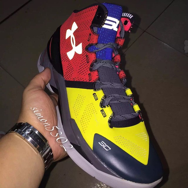 Under Armour Stephen Curry 2 Shoes Black Grey Orange